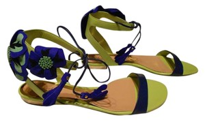 Sebastian Milano Lovely Color Combo Elegant Design Made In Italy Blue/Green Sandals