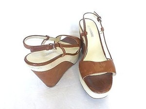 Jil Sander Wedges brown,cream Platforms