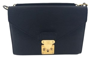 Louis Vuitton Hand Epi Briefcase Black Clutch