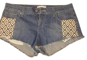 Paige Denim Cut Off Shorts Denim