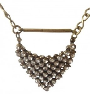 J.Crew J Crew Gold tone and rhinestone necklace