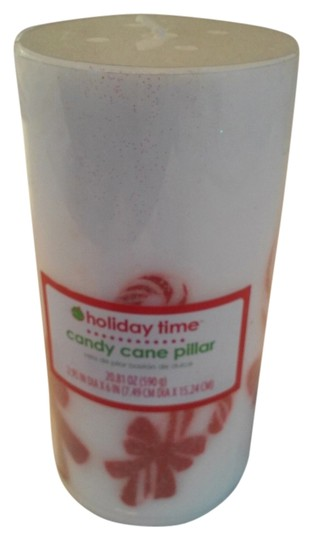 Other Candy Cane & Bow Large Pillar Candle