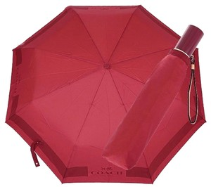 Coach COACH F63689 HC LOCK UP UMBRELLA CLASSIC RED NEW WITH TAG
