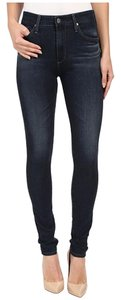 AG Adriano Goldschmied The Farrah Skinny; High Rise Skinny Skinny Jeans-Dark Rinse