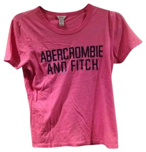 Abercrombie & Fitch Shirt Tees Pink Bubblegum Navy Navyblue Pinkblues Blu Blue Brand Womens Women Girls Large New Nice Vintage T Shirt Bubblegum Pink