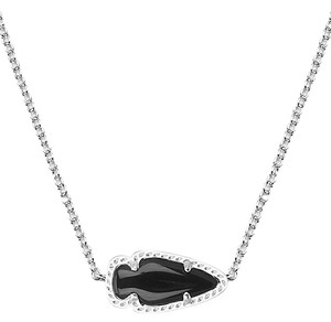 Kendra Scott SKYLIE SILVER PENDANT NECKLACE IN BLACK
