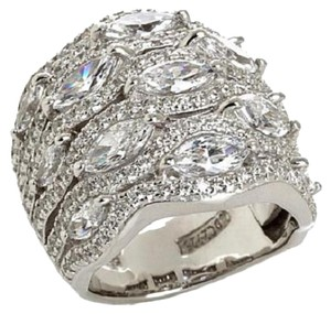 Jean Dousset Jean Dousset 5.05ct Absolute Marquise and Pave' Wide Band Ring
