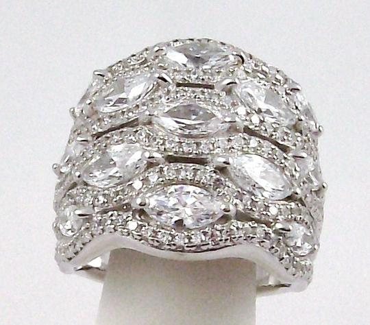 Jean Dousset Jean Dousset 5.05ct Absolute Marquise and Pave' Wide Band Ring Image 1