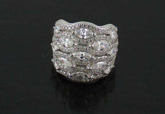 Jean Dousset Jean Dousset 5.05ct Absolute Marquise and Pave' Wide Band Ring Image 10