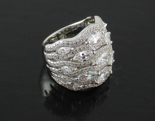 Jean Dousset Jean Dousset 5.05ct Absolute Marquise and Pave' Wide Band Ring Image 11