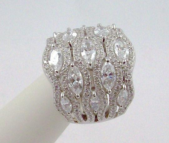 Jean Dousset Jean Dousset 5.05ct Absolute Marquise and Pave' Wide Band Ring Image 3