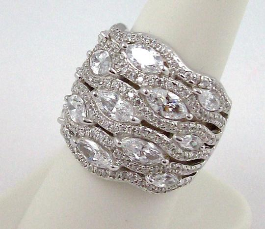 Jean Dousset Jean Dousset 5.05ct Absolute Marquise and Pave' Wide Band Ring Image 4