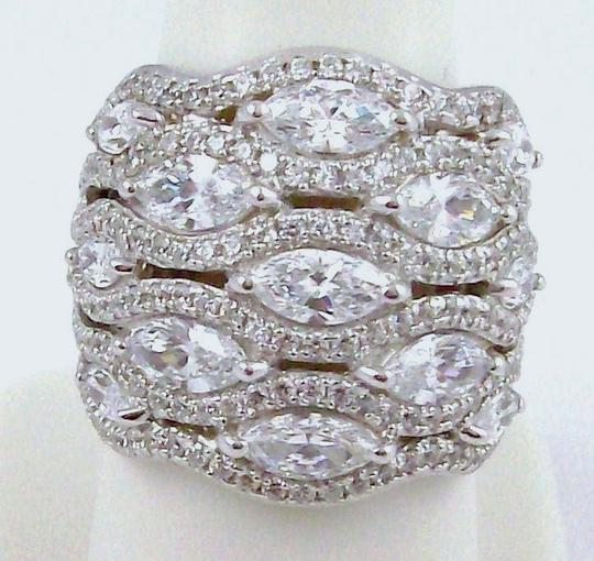 Jean Dousset Jean Dousset 5.05ct Absolute Marquise and Pave' Wide Band Ring Image 5