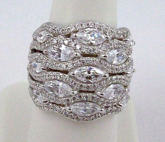 Jean Dousset Jean Dousset 5.05ct Absolute Marquise and Pave' Wide Band Ring Image 6
