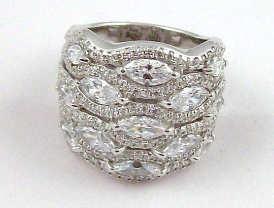 Jean Dousset Jean Dousset 5.05ct Absolute Marquise and Pave' Wide Band Ring Image 7