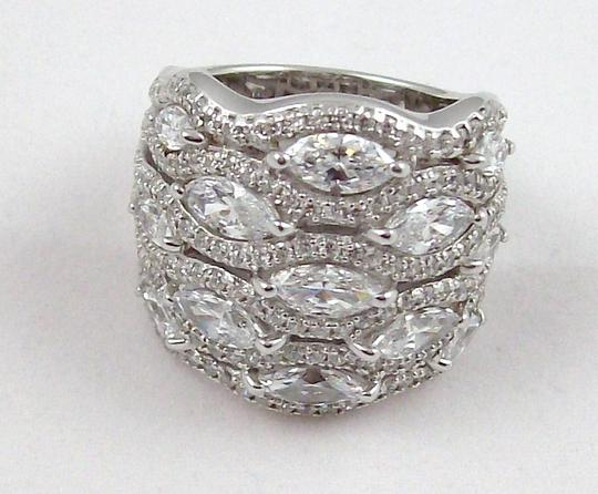 Jean Dousset Jean Dousset 5.05ct Absolute Marquise and Pave' Wide Band Ring Image 8