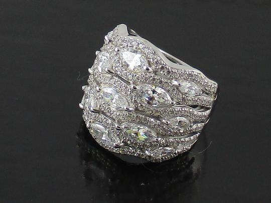 Jean Dousset Jean Dousset 5.05ct Absolute Marquise and Pave' Wide Band Ring Image 9