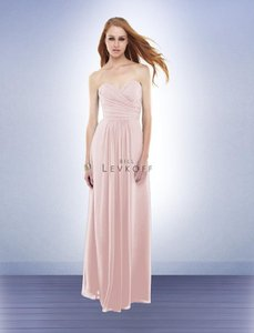 Bill Levkoff Blush Pink/ Petal Pink Chiffon 165 Feminine Bridesmaid/Mob Dress Size 8 (M)