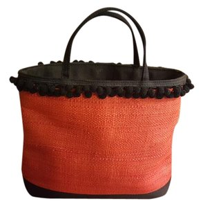 Cole Haan Tote in Dark Orange and Black
