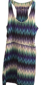 TEHAMA short dress Blue green turquoise teal purple white on Tradesy