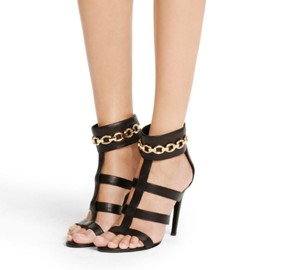 Diane von Furstenberg Dvf Heels Strappy Night Out Black Sandals