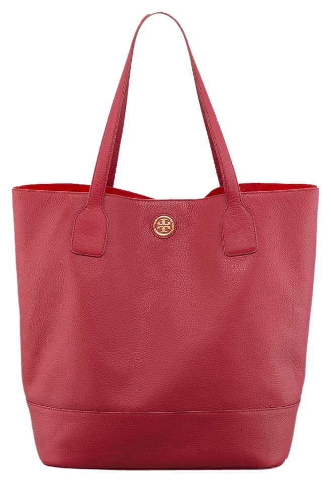 c5dc748cb90 Tory Burch Michelle Leather Tote Red Hobo Bag - Tradesy