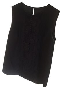 Dolce&Gabbana Lace Silk Sleeveless Top Black