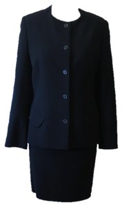 Calvin Klein Collection Black Wool Skirt Suit