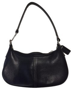Coach Pebble Leather Demi Hobo Baguette Shoulder Bag