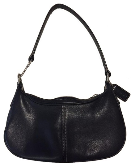 Coach Pebble Leather Demi Hobo Baguette Shoulder Bag Image 0