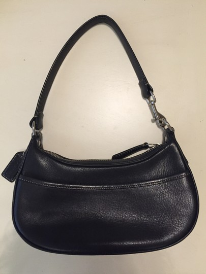 Coach Pebble Leather Demi Hobo Baguette Shoulder Bag Image 1