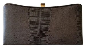 Alligator Brown Clutch