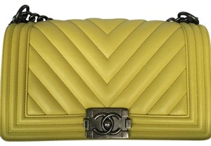 Chanel Boy Chevron Boy Cross Body Bag