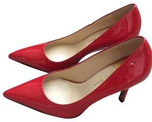 Cole Haan Patent Red Pumps