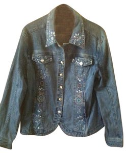 Christine Alexander Womens Jean Jacket
