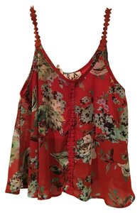 Nordstrom Top Red multi