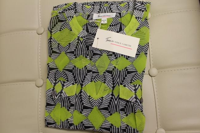 Vince Camuto Top Lime Green/Black/White