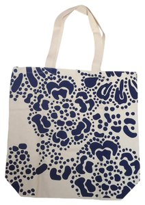 Old Navy Book Shopper Tote in Cream/Blue