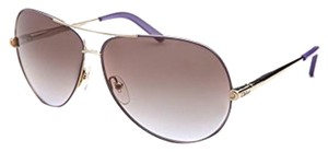 Chloé New Chloe sunglasses with case CE107S Gold Violet Brown Grey Shaded