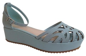 Bamboo Powder Blue Platforms