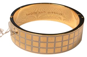 Kate Spade Sleek and Modern NWT Kate Spade Smoke and Mirrors Hinged Bangle Bracelet 12KGold