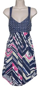 Roxy short dress Navy Blue, Pink, Multi-Color Summer Sleeveless on Tradesy