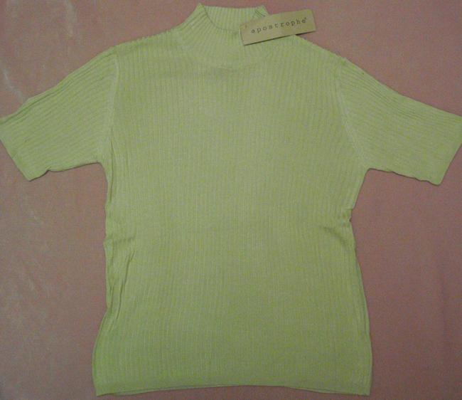 Preload https://item2.tradesy.com/images/apostrophe-lime-new-with-tags-8-10-mock-turtle-neck-short-sleeves-silk-hand-or-machine-wash-great-fo-1685361-0-0.jpg?width=400&height=650