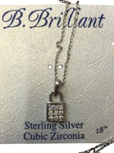 b brilliant sterling Silver necklace