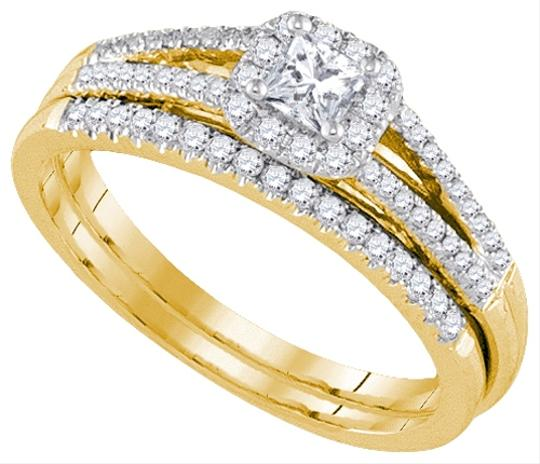 Yellow Gold | Diamond Ladies Luxury Designer 14k 0.51 Cttw Fashion Set Engagement Rings