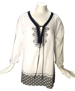 Bailey 44 44 Nwt New Never Worn Timeless Top White and Blue