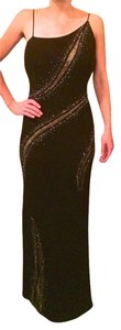 Tony Bowls Sheer Panels Sparkle Dress