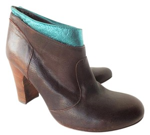 Te Casan Limited Edition Leather Cowboy Teal Brown Boots