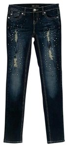 ZCO Jeans Bling Zco Skinny Distressed Embellished Skinny Jeans-Distressed