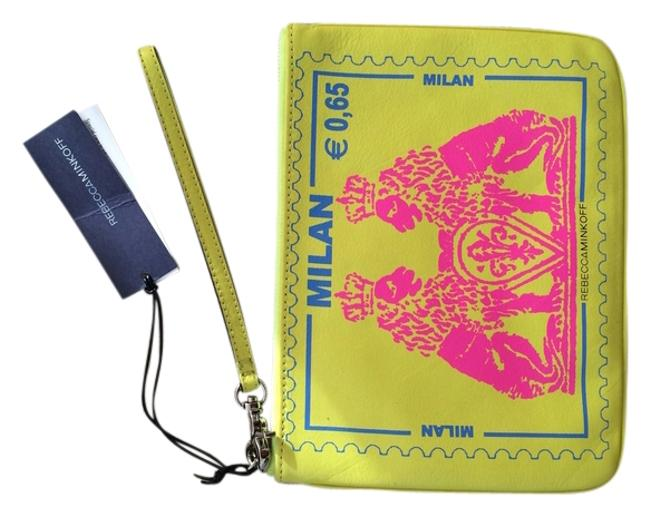 Item - Milan Travel Pouch Yellow Pink Leather Clutch